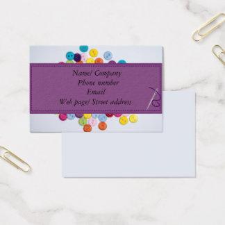 Abotone la tarjeta de visita de costura 8,5 cm x