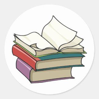 Abra a los pegatinas del libro pegatina redonda