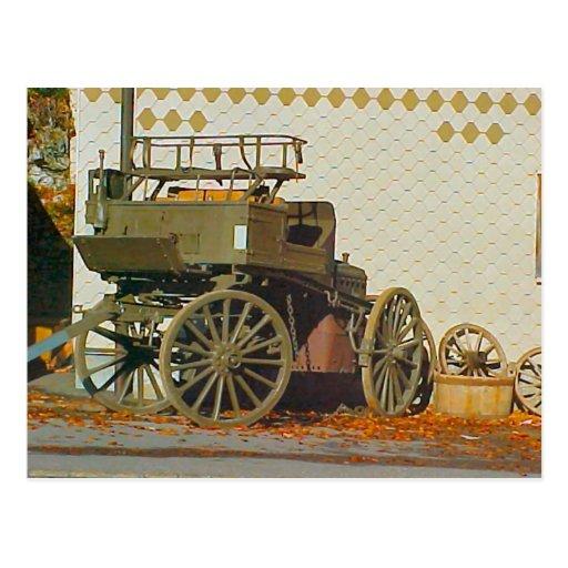 Abra el carro traído por caballo tarjetas postales