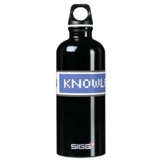 Abra el conocimiento botella de agua