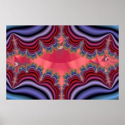 Abra el fractal de los dobleces impresiones