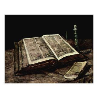 Abra el libro con las velas - Van Gogh de la Folleto 21,6 X 28 Cm