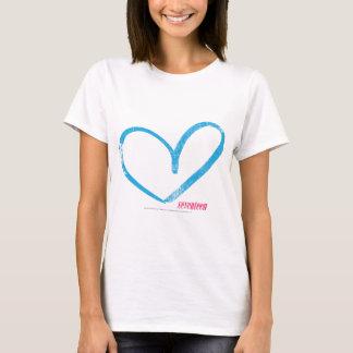 Abra la aguamarina del corazón camiseta