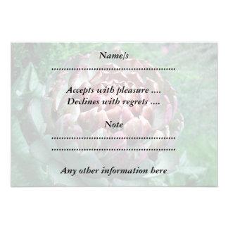 Abra la alcachofa invitaciones personalizada