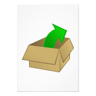 Abra la caja invitaciones personalizada