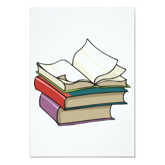 Abra las invitaciones del libro invitación 8,9 x 12,7 cm