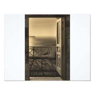 Abra puerta-Retro Invitación 10,8 X 13,9 Cm