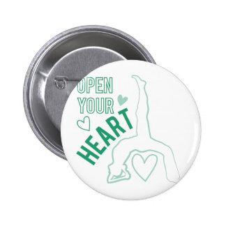 Abra su corazón chapa redonda 5 cm