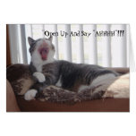 "¡""Abra y diga ""AHHHH""!!! Tarjeton"