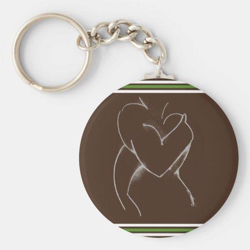 Abrace el marrón y el verde (de la fiesta de bienv llaveros personalizados