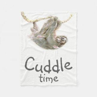 """""""Abrace mamá y bebé de la pereza del tiempo"""" Manta Polar"""