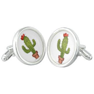 Abráceme las mancuernas del cactus gemelos