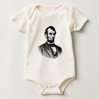Abraham Lincoln - dibujo blanco y negro Body Para Bebé