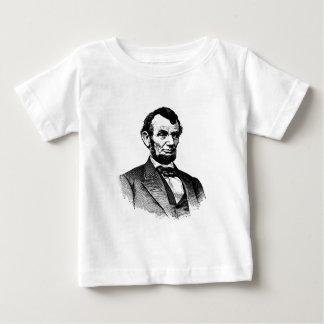 Abraham Lincoln - dibujo blanco y negro Camiseta De Bebé