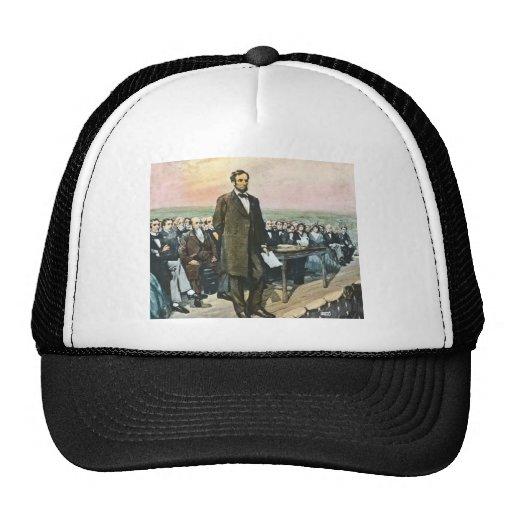 Abraham Lincoln recita la dirección Vin de Gettysb Gorro