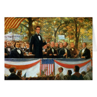 Abraham Lincoln y Stephen A. Douglas Tarjeta