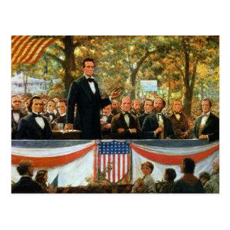 Abraham Lincoln y Stephen A. Douglas Tarjeta Postal