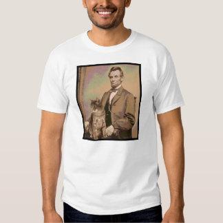 """Abraham Lincoln y su gato """"Dixie """" Camisas"""