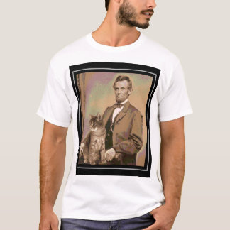 "Abraham Lincoln y su gato ""Dixie "" Camiseta"