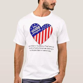 """""""Abraza"""" la camisa del logotipo del proyecto"""