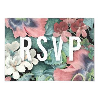 Abrazo botánico que casa las tarjetas de RSVP
