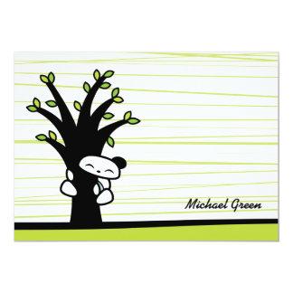 Abrazo de árboles invitación 12,7 x 17,8 cm
