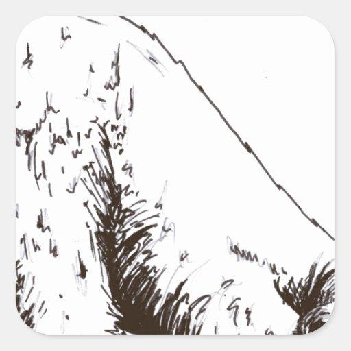 abrazo de oso calcomanias cuadradas