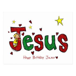 Abrazo del cumpleaños de Jesús (navidad) Postal