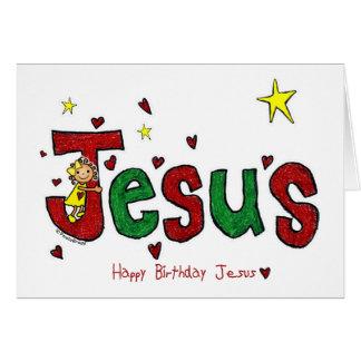 Abrazo del cumpleaños de Jesús (navidad) Tarjeta De Felicitación