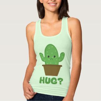 ¿Abrazo? (Humor) del cactus - novedad divertida Camiseta Con Tirantes
