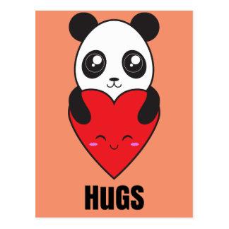 Abrazos de la panda postal
