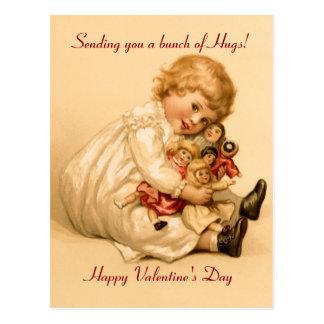 Postal Abrazos de la tarjeta del día de San Valentín