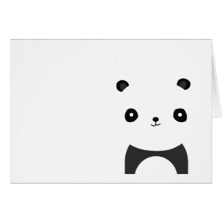 Abrazos de oso de panda tarjeta