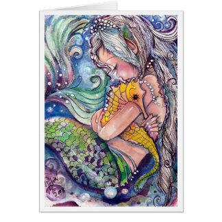 Abrazos del SeaHorse Tarjeta De Felicitación