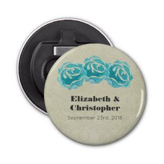Abrebotellas 3 rosas de la acuarela del trullo en el boda del