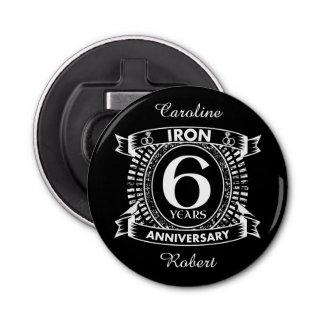 Abrebotellas 6to escudo apenado del aniversario de boda