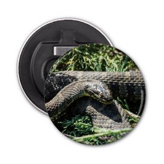 Abrebotellas apoyado imán de la serpiente