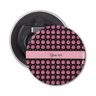Abrebotellas Botones rosados brillantes glamorosos del brillo