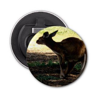Abrebotellas Canguro australiano tímido, abrelatas de botella