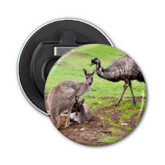 Abrebotellas Canguro y Emu, abrelatas de botella magnética