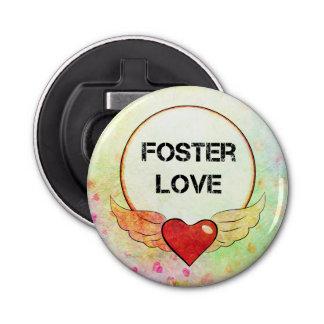 Abrebotellas Corazón adoptivo de la acuarela del amor