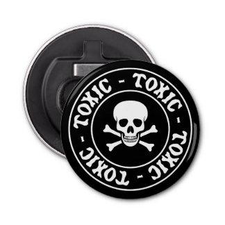 Abrebotellas Cráneo tóxico y bandera pirata