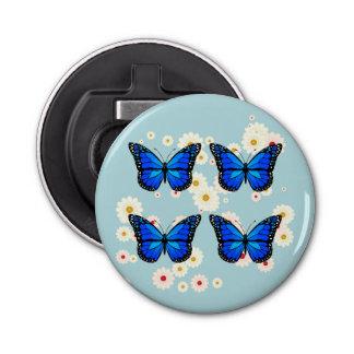 Abrebotellas Cuatro mariposas azules