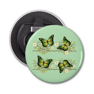 Abrebotellas Cuatro mariposas verdes