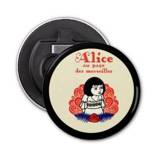Abrebotellas Cubierta de libro de Alicia del francés