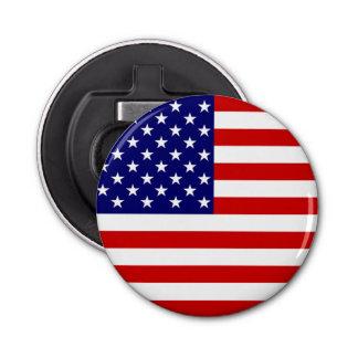 Abrebotellas de la bandera de los E.E.U.U. redondo Abrebotellas Redondo
