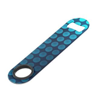 abrebotellas de neón azul bonito de la velocidad