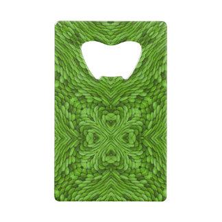 Abrebotellas De Tarjeta De Crédito Abrelatas verdes de la tarjeta de crédito del