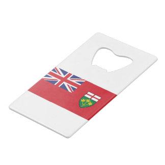 Abrebotellas De Tarjeta De Crédito Bandera de Ontario
