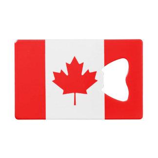 Abrebotellas De Tarjeta De Crédito Bandera nacional patriótica de CANADÁ